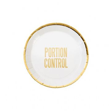 Portion Control Mini Plates - pack of 12